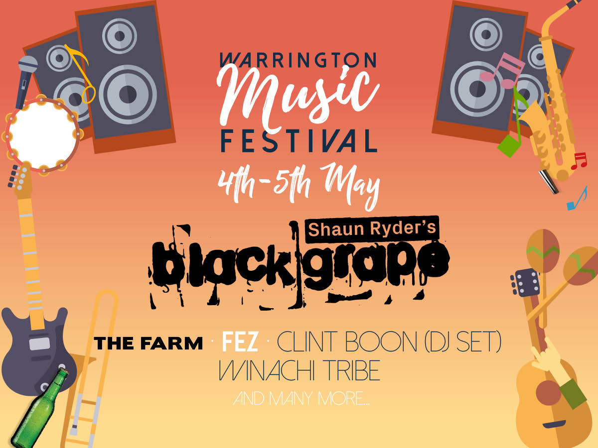 Warrington Music Festival Line-Up Announced!