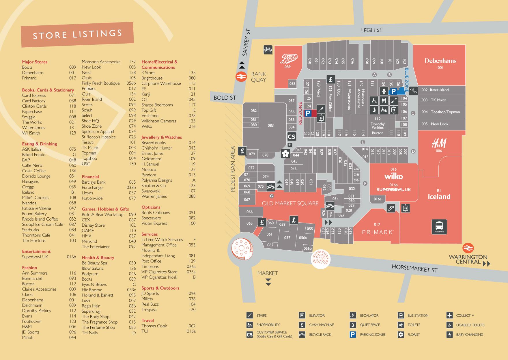 Centre Map - Golden Square Warrington
