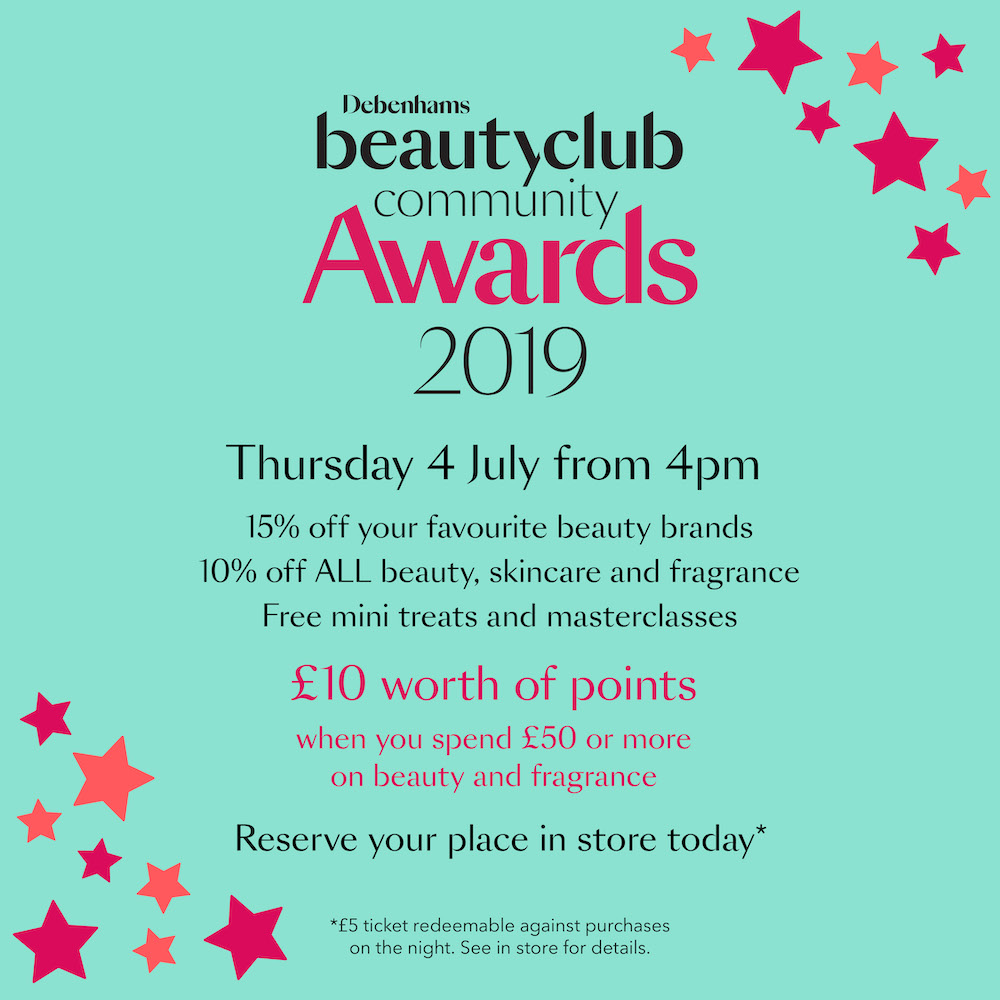 Debenhams Beauty Club Community Awards