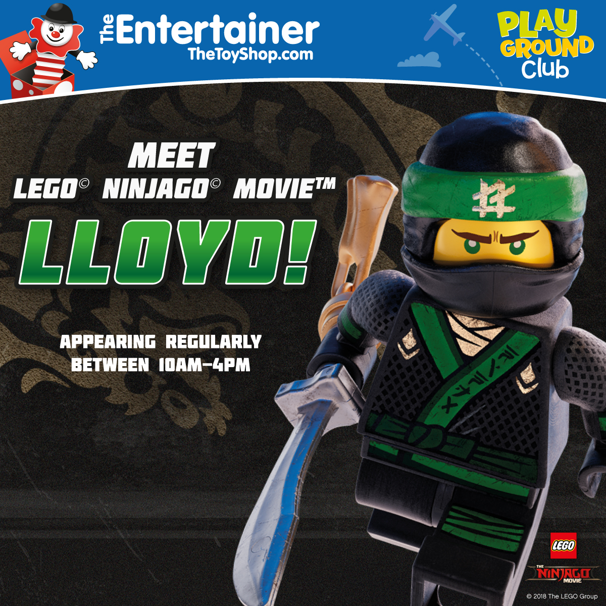 Lloyd from Lego Ninjago is coming to Golden Square!